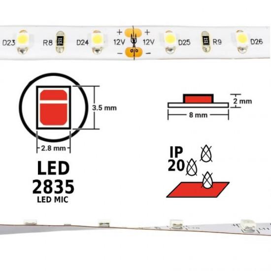 BANDA LED, 2835, IP20, ROSU